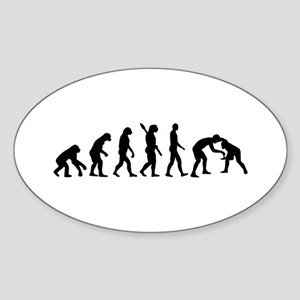 Evolution Wrestling Sticker (Oval)